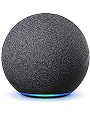 Nya Echo (4:e generationen), internationell version | Med premiumljud, smart home hub och Alexa | Grafitgrå | Svenskt språk ej tillgängligt