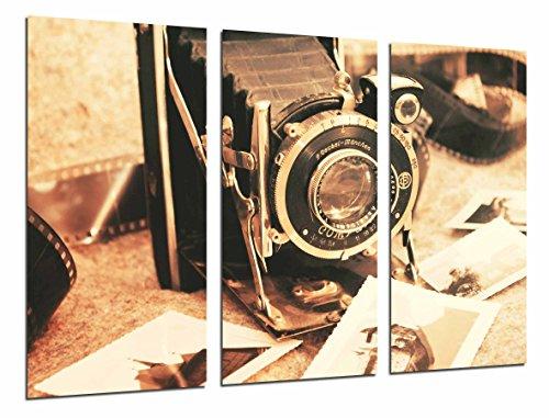 Cuadro Fotográfico Camara de fotos vintage, fotografia sepia Tamaño total: 97 x 62 cm XXL