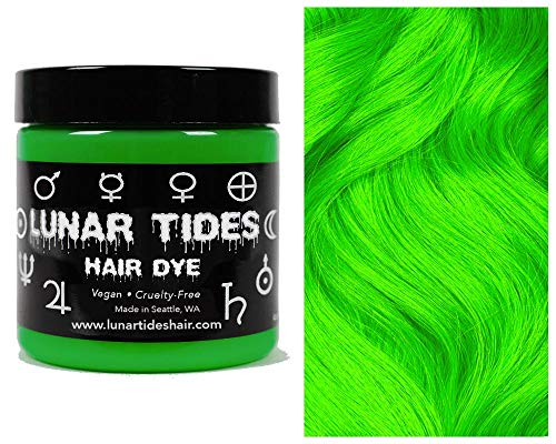 Lunar Tides Hair Dye - Aurora Lime Green Semi-Permanent Vegan Hair Color (4 fl oz / 118 ml)
