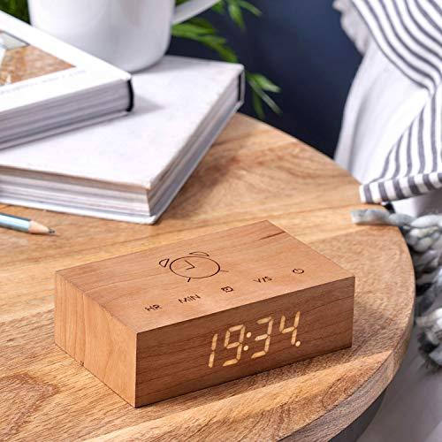 Gingko Design Wecker Holz Kirsche One Size G003C15