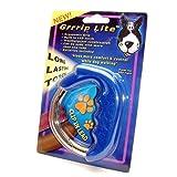 (オーイーエム・クリエイティブ) ワンちゃん用 グリップ ウォーキング LEDリードライト 犬用ライト 安全ライト ペット用品 (ワンサイズ) (ブルー)
