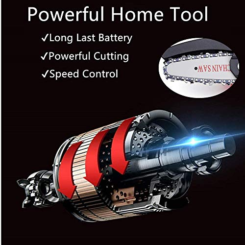 Jemyda Mini Chainsaw, Power Chain Saws 4 Inch for Wood Cutting and Gardening, Handheld Chainsaw, Rechargeable Electric Chainsaw Cordless, Pruning Shears Battery Chainsaw with Brushless Motor