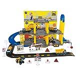 MAJOZ0 Aparcamiento infantil, coche de policía, garaje de aparcamiento con 3 minicoches, tren de carreras, juguete para niños