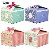 SIMUER Geschenkboxen Set 12er Deko Leckerbissen Boxen Kuchen Kekse Leckerbissen Bonbons Handgefertigte Baby-Badebomben Duschseifen Geschenkboxen Weihnachten Geburtstage Feiertage Hochzeiten