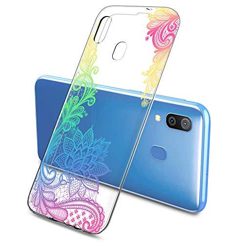 Suhctup Custodia Compatibile per Samsung Galaxy G530 / GRAND prime(G5308W), Cover Galaxy G530 Silicone Trasparente con Disegni [ Pizzo ], Ultra Slim TPU Morbido Antiurto Antigraffio Case