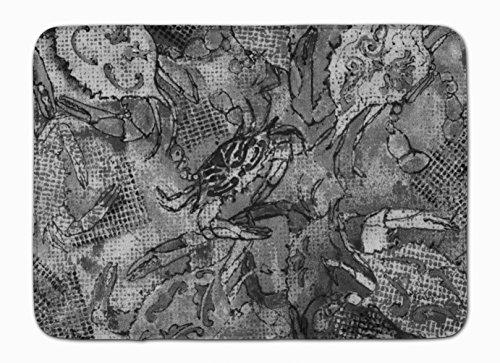 Caroline S Treasures 8953rug Toile Gris Abstrait Crabes Tapis de Sol, 48,3 x 68,6 cm, Multicolore