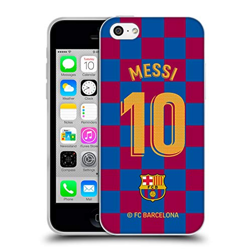 Head Case Designs Officially Licensed FC Barcelona Lionel Messi 2019/20 Players Home Kit Group 1 Soft Gel Case Compatible with Apple iPhone 5c