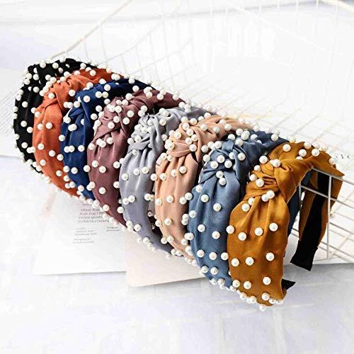 Fashion Pearl Hair Accessories Adult High Elastic Hair Band Headband For Girls Hairband Wholesale Hair Hoop Turban 3pcs