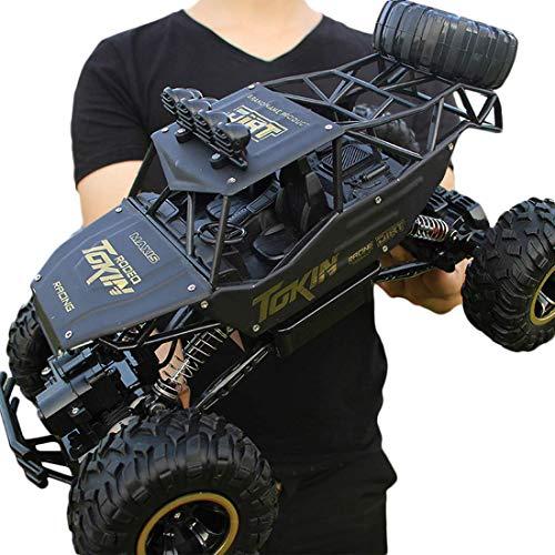Batop Ferngesteuertes Auto, 1:12 Doppel Motor Ferngesteuertes Buggy RC Monster Truck 4WD 2,4 Ghz Ferngesteuertes Auto Rock Crawler für Kinder und Erwachsene (Schwarz)