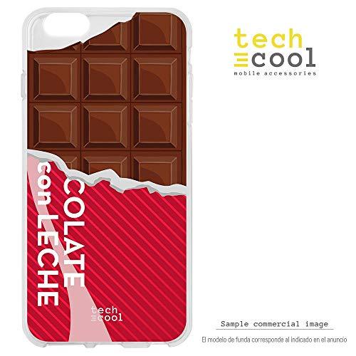 Funda Silicona Flexible Ultra Slim Gran Resistencia Diseño Tableta de Chocolate