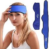 Hilph® Headache Ice Pack Head Wrap for Migraines, Reusable Cold Head Wrap Migraine Ice Head Wrap for Headache, Migraines, Chemo, Sinus, Head Tension - 29.5' x 3.5'