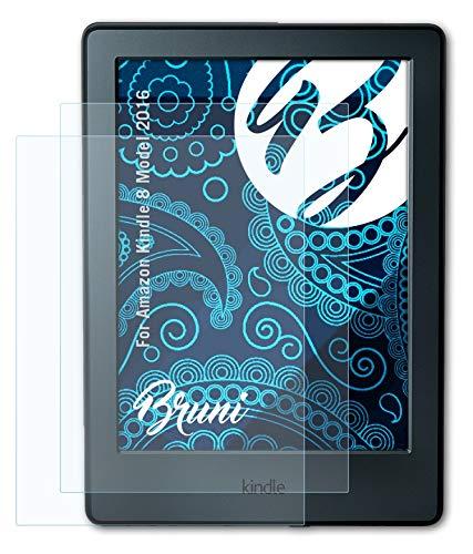 Bruni Schutzfolie kompatibel mit Amazn Kindl 8 Model 2016 Folie, glasklare Displayschutzfolie (2X)