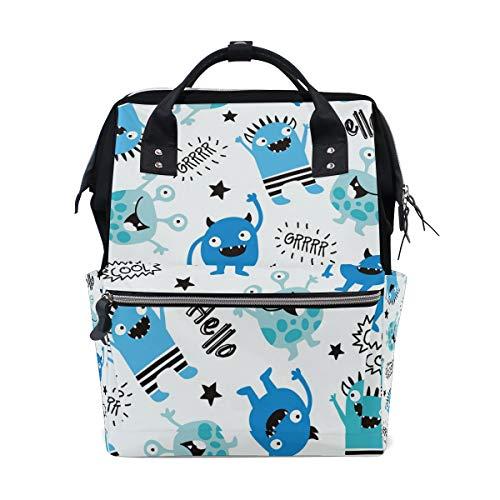 Sac à dos à langer personnalisé Little Monsters pour maman, fille, femme, école, voyage, randonnée, ordinateur portable, bébé