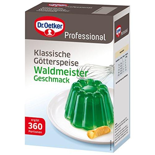 Dr. Oetker Professional Götterspeise mit Waldmeister-Geschmack, Götterspeisenpulver in 1 kg Packung