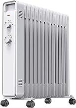 Calentador eléctrico de los hogares de aceite Llenado del radiador de calefacción protección contra sobrecalentamiento portátil calentador de aceite for el hogar y la oficina Habitación llena radiante