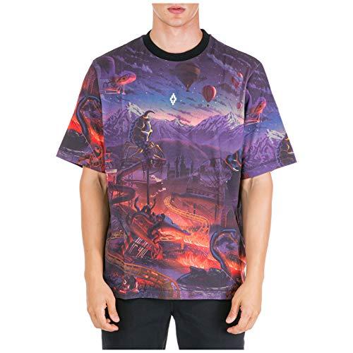 MARCELO BURLON Fantasy t-Shirt Uomo Nero S