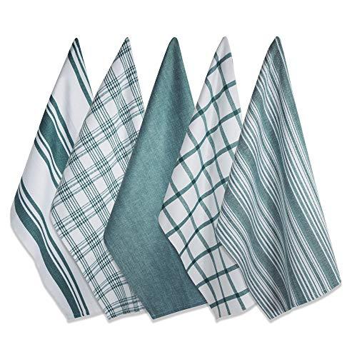 tea cloths DII Assorted Woven, Kitchen Dishtowel Set, 18x28