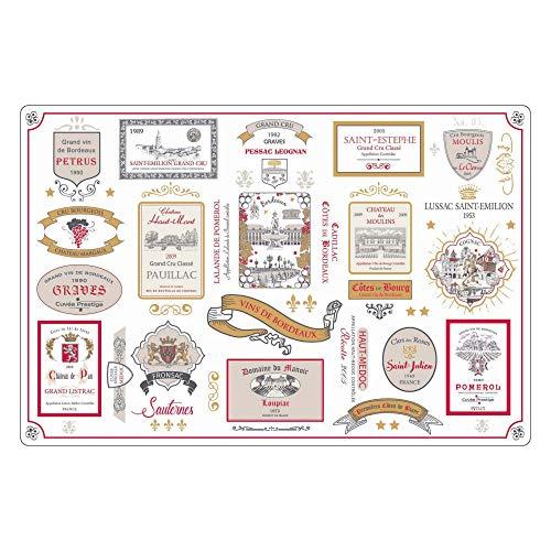Winkler - Set de table rectangle Bordeaux – 80x180 cm – Facile à nettoyer – Style moderne et tendance