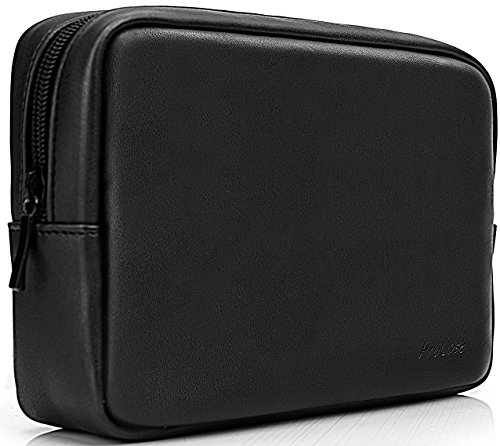 ProCase Accessories Bag Organizer Power Bank Case, Electronics Accessory Travel Gear Organize Case, Cable Management Hard Drive Bag -Black