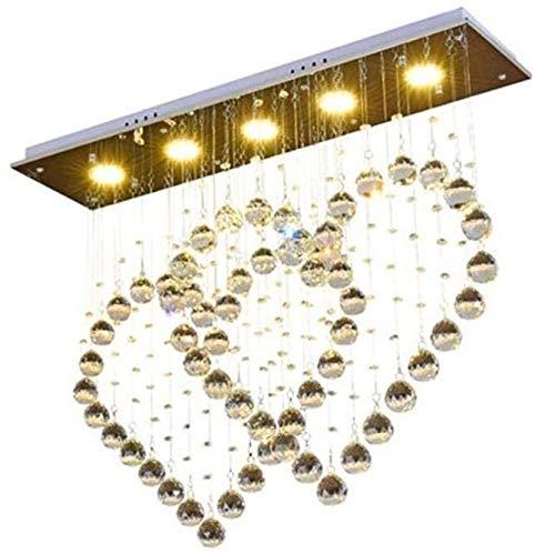 Colgante de luz LED Creative Double Hearts Crystal Pendant Lamp Modern Minimalist Ceiling Pendant Lamp Fashion Romance Starlight Design Hanging Lamp Stainless Steel 5 Bulbs 25W 3000K-6000K Bedroom