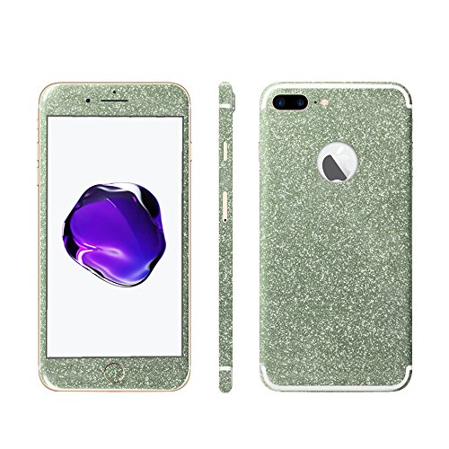 Luch iPhone 7 8 X Glitter Screen Skin Diamond Shine Sticker plakfolie beschermfolie voor de voor- en achterkant, iPhone 7 Plus / 8 Plus, groen