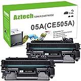 Aztech Compatible Toner Cartridge Replacement for HP 05A CE505A HP Laserjet P2035 P2035N P2055DN (Black, 2-Pack)