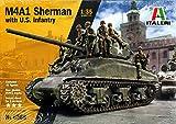 ITALERI 6568S M4A1 Sherman with U.S. Infantry, maqueta, maqueta, maqueta, modelismo, modelismo, Manualidades, Hobby, Pegado, maquetas de plástico