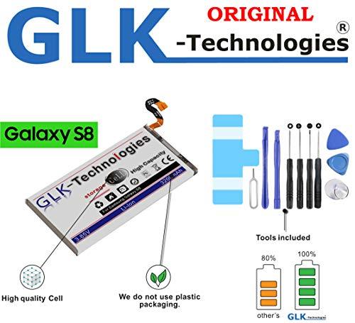 BLITZVERSAND | Samsung Galaxy S8 SM-G950F Akku | Original GLK-Technologies Akku | LEISTUNGSSTÄRKSTER Ersatzakku | 3200 mAh | inklusive Werkzeugset 2020 B.j