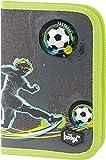 Federmäppchen für Jungen - Schüleretui, Federtasche, Federmappe für Schreibwaren - Etui, Federpenal, Schulmäppchen (Fussball)