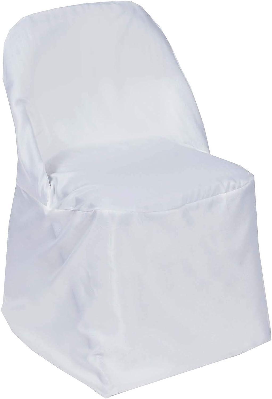 Efavormart 50pcs White Round Premium Chair Gorgeous Cov latest Folding Polyester