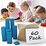 """60 Pack Dry Erase Lap Boards l White Boards - 9""""X12"""" - Class Set - Reusable Writing Pads for Kids - Bulk Case of 60 Small Whiteboards for Students - 60 Erasers Included (Single Sided White Board)"""