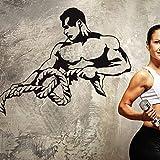 Gym Name Aufkleber Fitness Seil Crossfit Muscle Aufkleber Bodybuilding Poster Vinyl Wandtattoos...