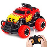 HAOMARK RC Car - Toddlers Boys Toys for 3 - 5 Year Olds Kids RC Trucks Gifts Remote Control Car for 3-4 Year Old Boys, Xmas Easter Birthday Present Preschool Toys Cars, Red
