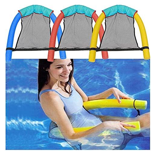 Liadance Schwimmen Schwimm Stuhl, Pool Erwachsene Kinder Bett Sitz, Wasser Flodable Ring Schwimmer, Leicht Ring Noodle Net, 3pcs
