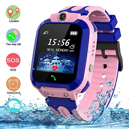 SZBXD Kids Waterproof Smart Watch, LBS/GPS Tracker Touchscreen SOS Anti-Lost Camera Alarm Clock...