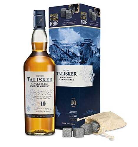 Talisker 10YO mit Whisky Steinen Single Malt Whisky (1 x Giftpack)
