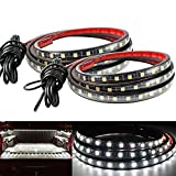 LED Truck Bed Light Strip Kit DIBMS 2PCS 60 inch 180 LED Bed Strip Kit Waterproof Lighting with On/Off Switch 2-Way Splitter Extension Cable for Car Truck Cargo Pickup Truck SUV RV Boat White