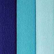 Just Artifacts Assorted Premium Crepe Paper Rolls - 8ft Length/20in Width (3pcs, Color: Shades of Blue)