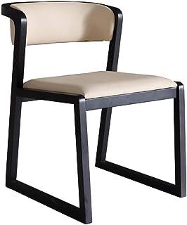 Sillas de comedor Silla de comedor moderno y minimalista Inicio 2 sillas de madera maciza Sillón nórdica de madera Silla de madera maciza Estudio trasero de la silla de oficina para Cocina Comedor Sal