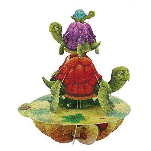 Santoro 3D Pirouette Grußkarte–Balancing Schildkröte