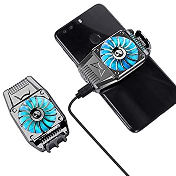 VASTWIN Mobile Phone Radiator Portable Phone Fan Cell Phone Heatsink Fast Cooling Black Phone Cooler for Gaming Watch Videos