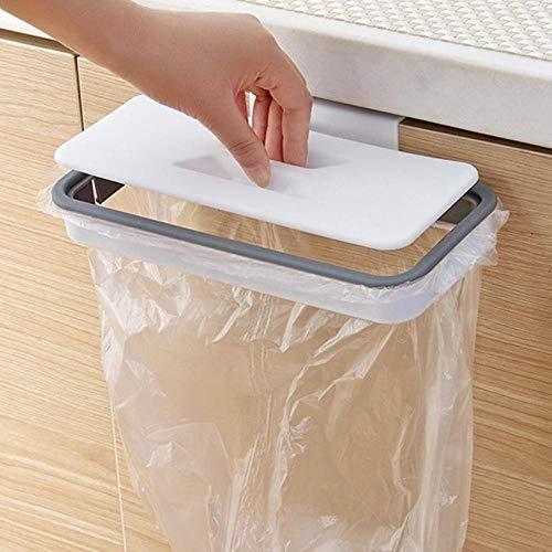 Bolsa de plástico portátil para colgar basura, bolsa de almacenamiento de basura de cocina, gancho, almohadilla para fregar, soporte para estante seco, organizador de cocina, color blanco, Francia