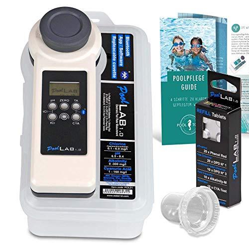PoolLab 1.0 Photometer Premium Edition/Elektronischer Pooltester für die professionelle Wasseranalyse von privaten Pools und Spas