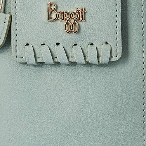 Baggit Women's Ziparound Wallet (Blue)