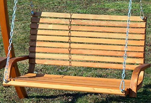 ASS Design Hollywoodschaukel Gartenschaukel Hollywood Schaukel aus Holz Lärche, Farbe:Grün - 3
