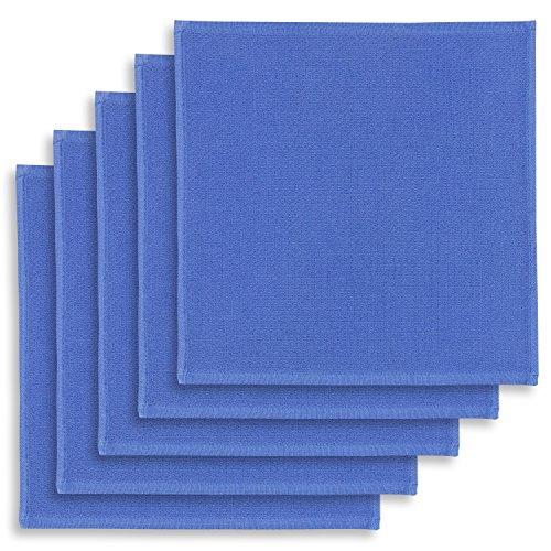 ziczac-affaires KRACHT, 5er-Set Geschirrtuch, Spültuch, Multifunktion Baumwolle blau, Edition, ca.30x30cm