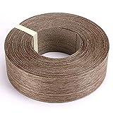 Skelang Walnut Wood Veneer Edge Banding Preglued Iron-on with Hot Melt Adhesive Edgebanding Flexible Wood Tape (2'×50')