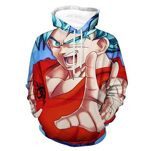 Goku Dragon Ball Z - Sudadera con capucha y forro polar con capucha (talla S)