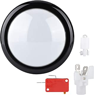 Socobeta Press Durable Acrylic Crystal Game Universal Big Round Button for Arcade Video Game(White)