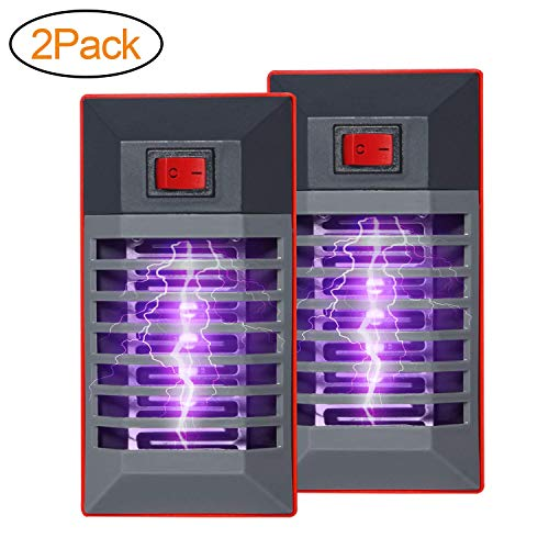 Wanqueen 2 Pack Indoor Electric Bug Zapper Plug in Mosquito Killer with UV LED Night Light Electronic Insect Trap for Pests Fruit Flies Flying Gnats